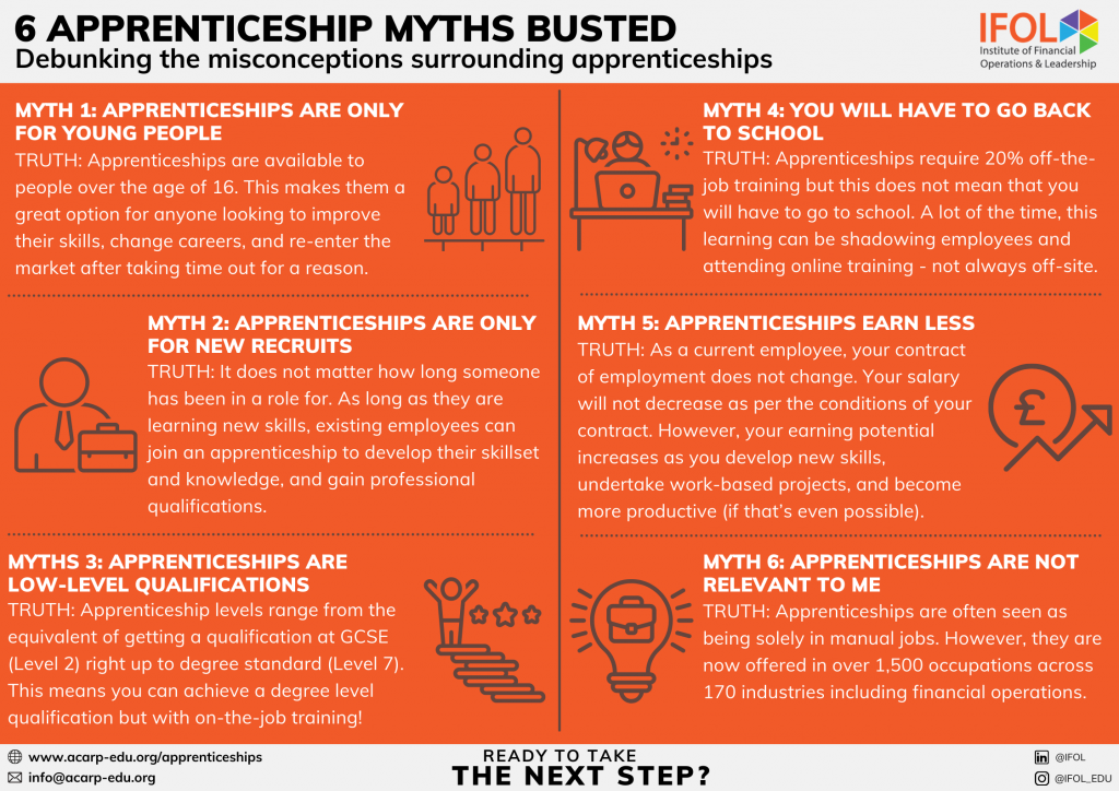 Rich results on Google's SERP for 'apprenticeship myths busted'